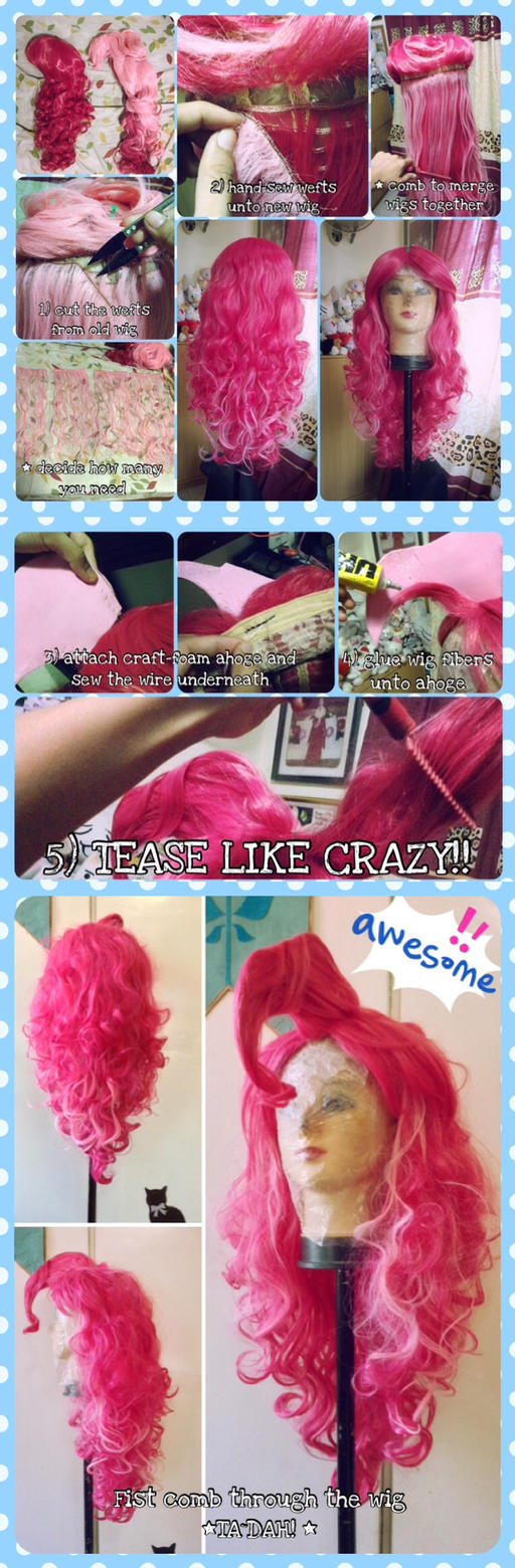 WIP - Improved Pinkie Pie wig 2.0 by nekomiKasai