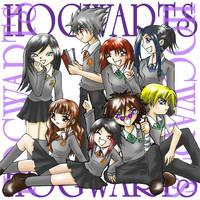 Hogwarts fanfix by nekomiKasai