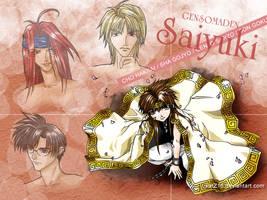 Saiyuki fanart by nekomiKasai