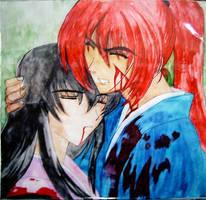 Kenshin and Tomoe by nekomiKasai