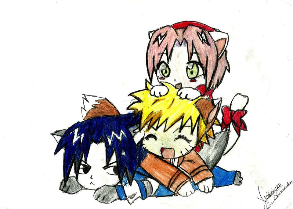 Sasuke x Naruto X Sakura Neko by KuroNekoKaneNaruto X Sakura X Sasuke