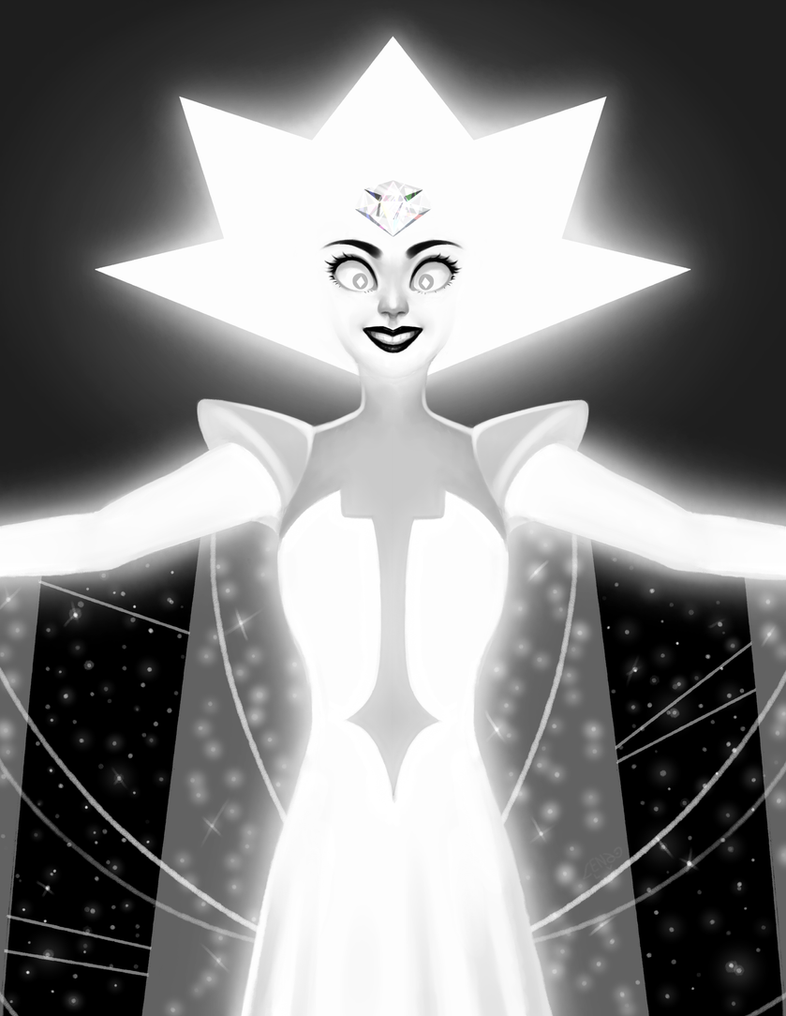 [ENG] I haven't posted in here in ages! Anyway, here's White Diamond from Steven Universe's lastest episode. Needless to say: I love her <3 ------- [ESP] ¡No he publicado aquí en eones...