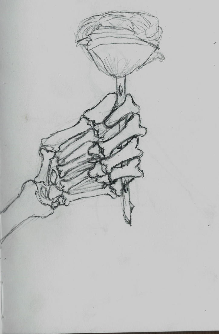 Rose in my hand by larouxdevil on deviantart for Hand holding a rose drawing