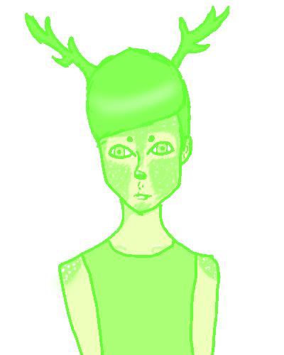 Green Deer by larouxdevil