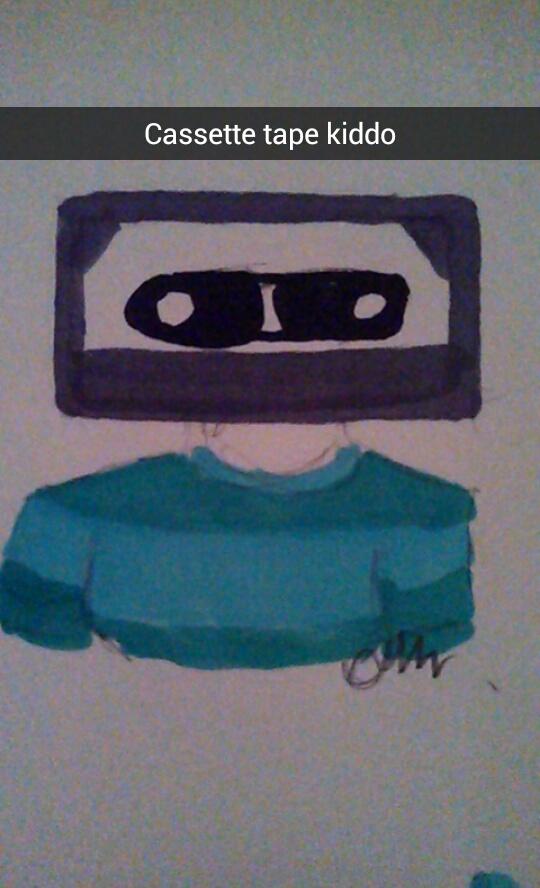 Cassette tape kiddo by larouxdevil