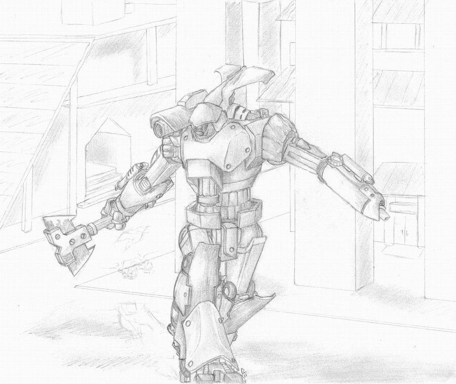 Battletech AXM-1N Axman Sketch by BanditFrosty on DeviantArt