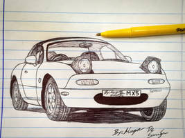 Mazda MX-5 Miata/Eunos Roadster sketch