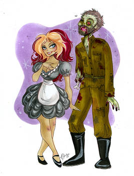 Magenta and WW2 Zombie commission