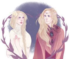 Galadriel and Finrod by Egobarri