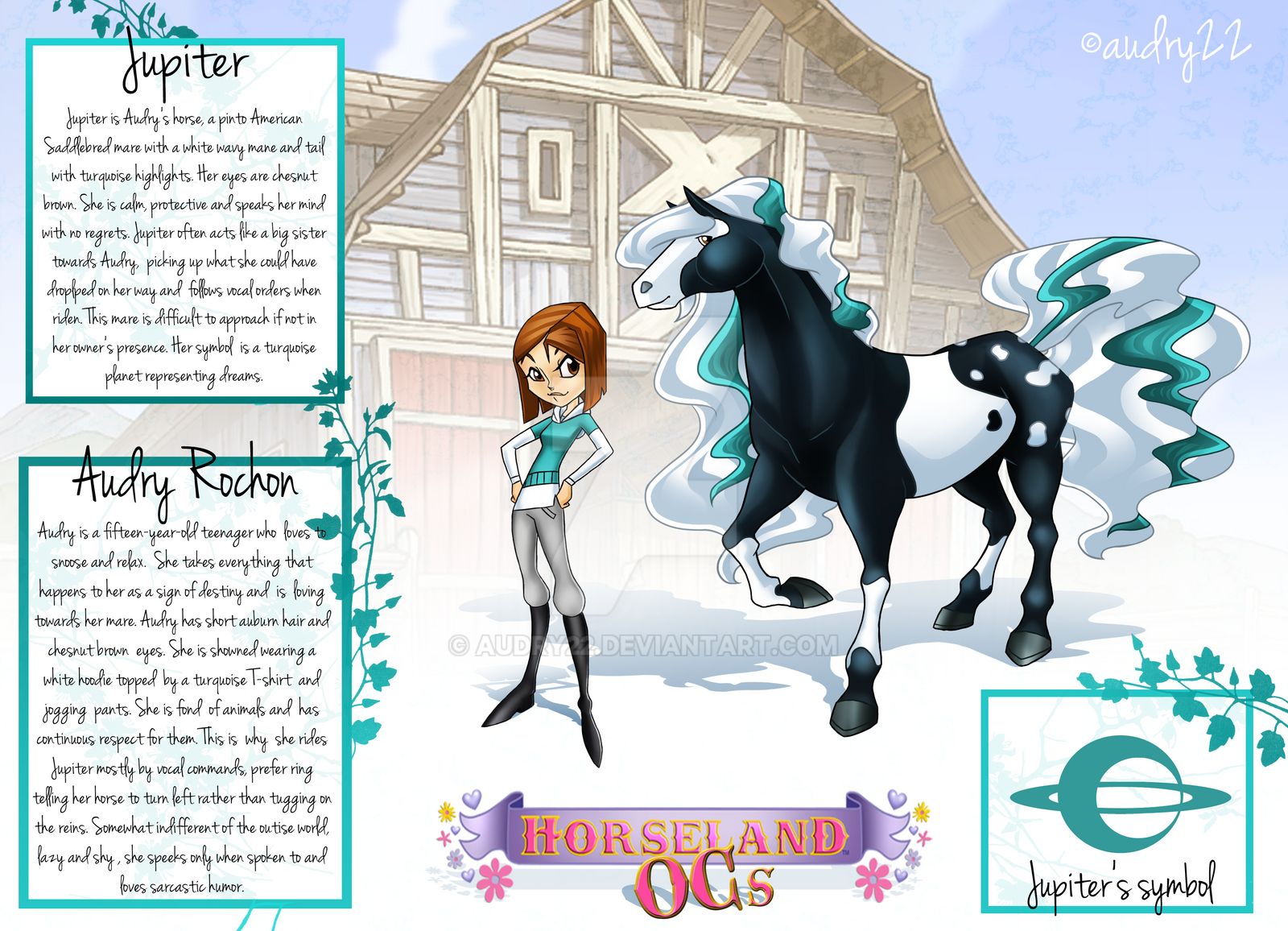 Horseland OCs Audry And Jupiter Refference By Audry22 On