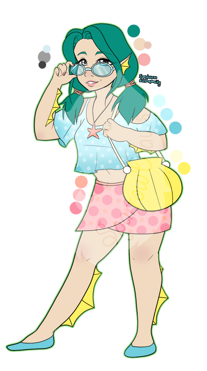 Summer-Themed Adopt (OPEN) by SparrowDraws