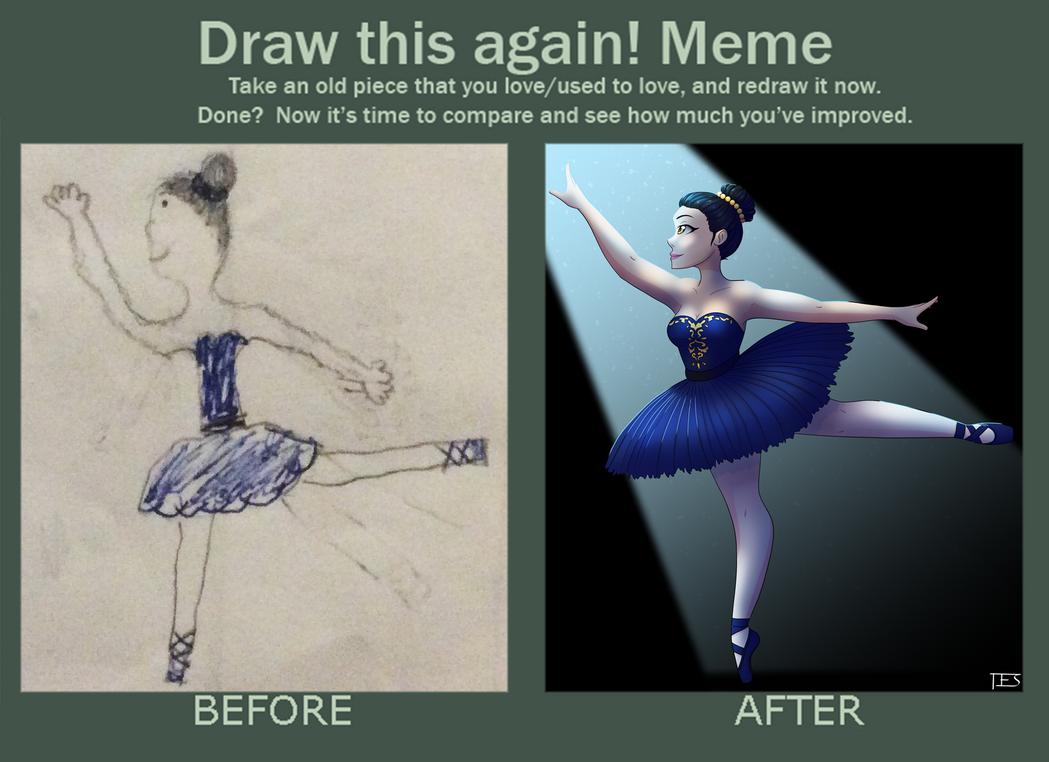 Ballerina Draw This Again Meme by SparrowDraws