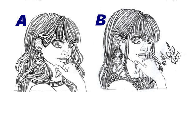 Sketch: Hairstyle by AgloAros