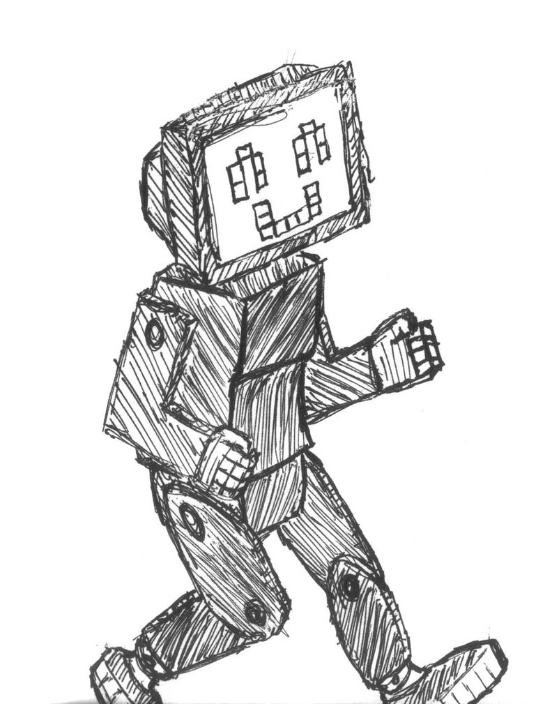 Line Art Robot : Robot line drawing by cookiesfta on deviantart