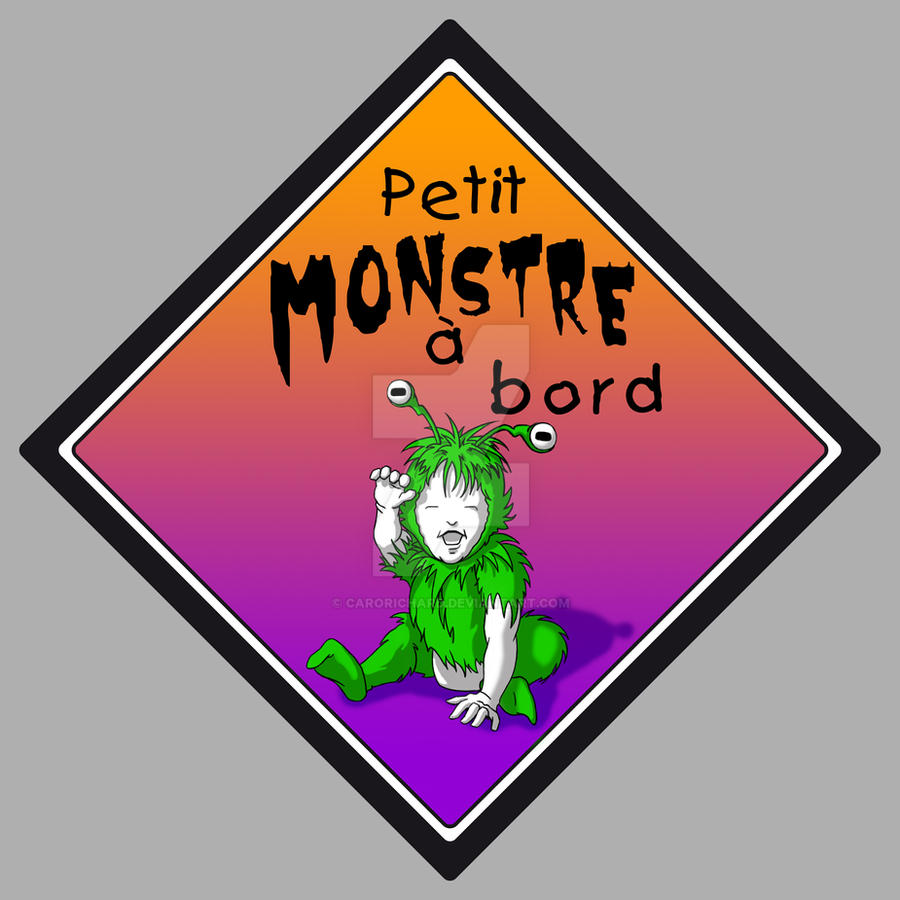 Petit monstre a bord by CaroRichard