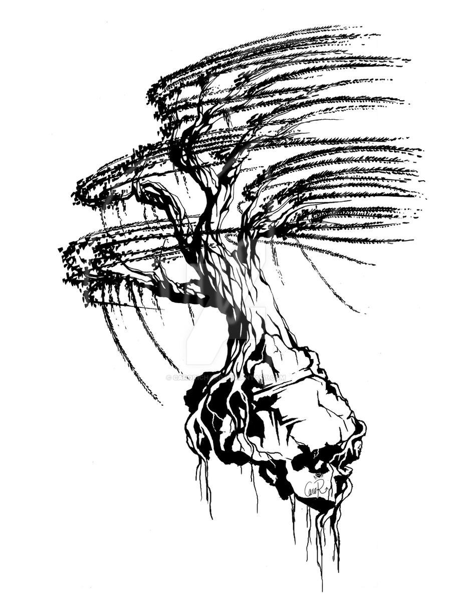 willow tree tattoo by carorichard on deviantart. Black Bedroom Furniture Sets. Home Design Ideas