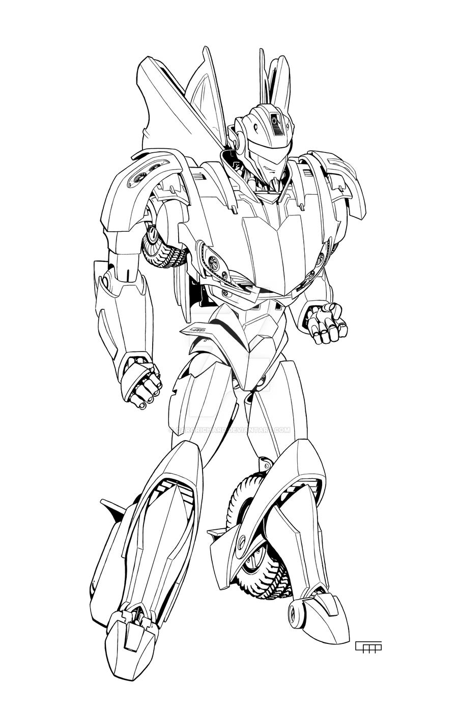 Tfp Jazz Lineart By Carorichard On Deviantart Jazz Coloring Pages