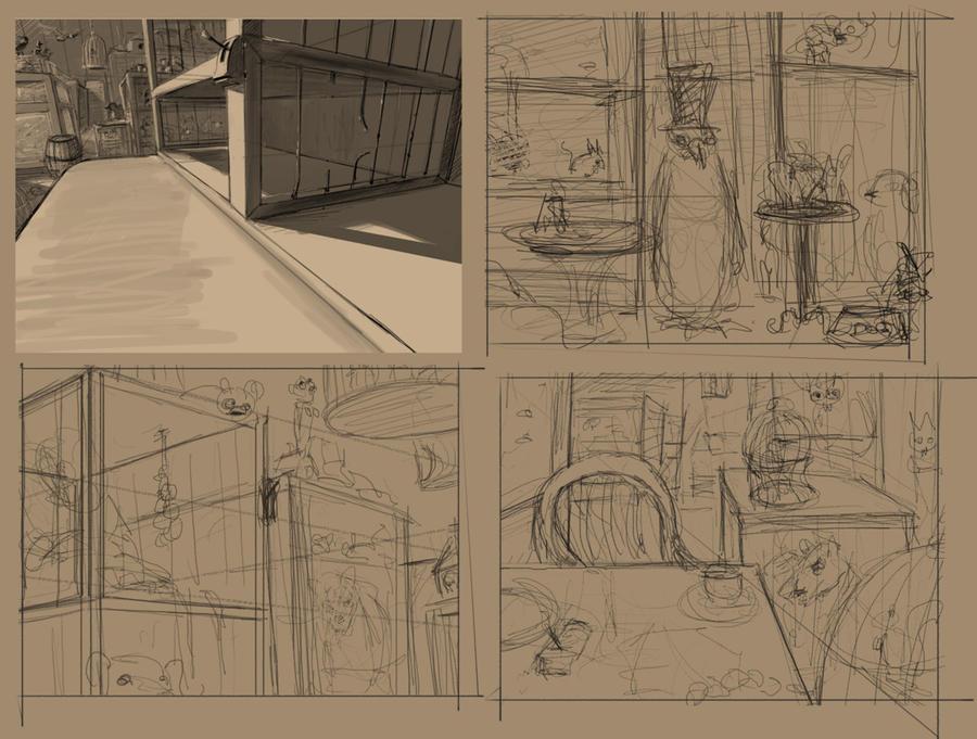 Petshop HO sketches by Nemo-Li