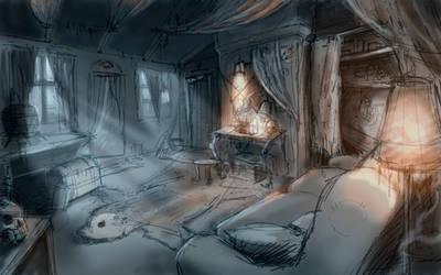 Witch house sketch by Nemo-Li