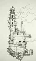 Inktober2015 - flying lighthouse