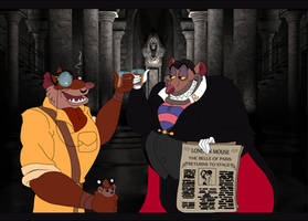 Doran and Ratigan - A Toast to... Colored by The-Manga-Goddess