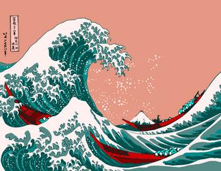 The Great Wave off Kanagawa by The-Manga-Goddess