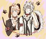 Collar x Malice Fan Art: Okazaki and Yoshinari