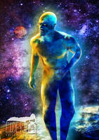Dr. Manhattan on the sun