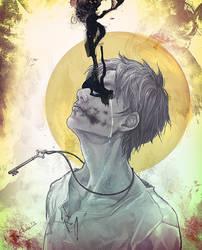 Eren Jaeger bw by idaiku17