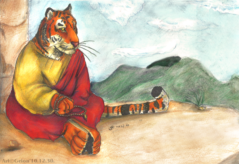 Monk Tiger by Grion