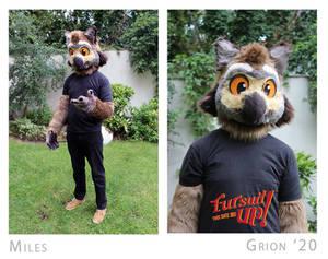 Miles owl fursuit