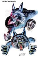 Big Bad Wolf by keithdraws