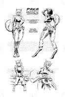 Paka Manga Character sheet by keithdraws