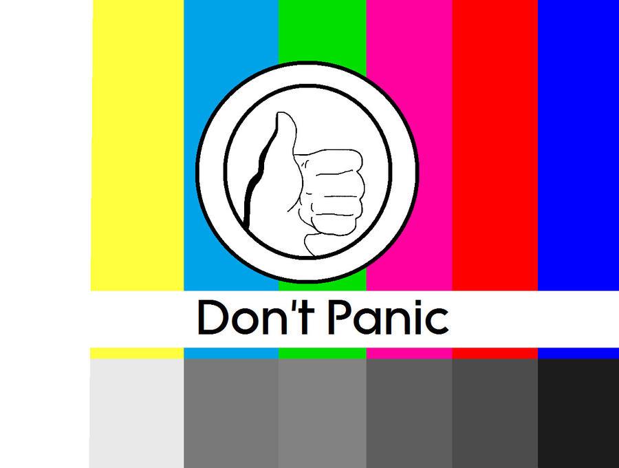 don 39 t panic test pattern by systemcat on deviantart. Black Bedroom Furniture Sets. Home Design Ideas