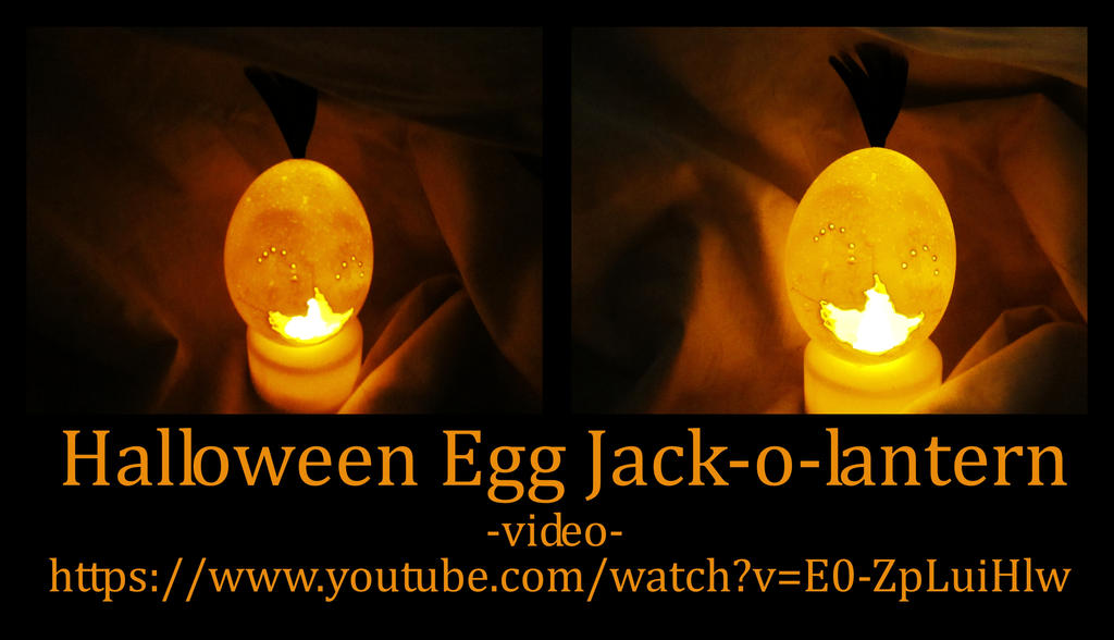 Halloween Egg Jack-o-lantern by systemcat