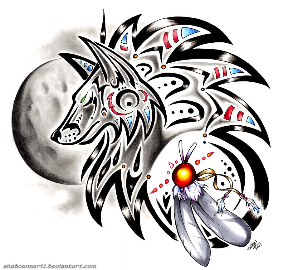 Tribal Wolf by shadowmer92 on DeviantArt