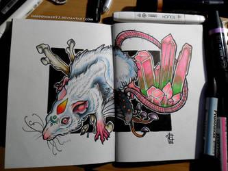 Albino Rat by shadowmer92