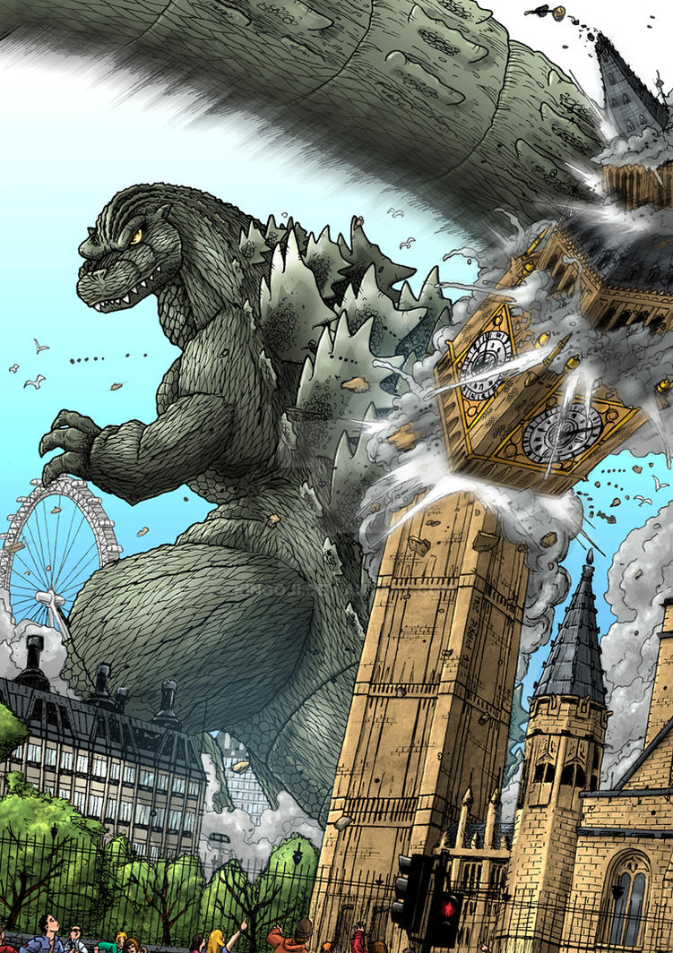 Big Ben Boom - Godzilla by Kingoji