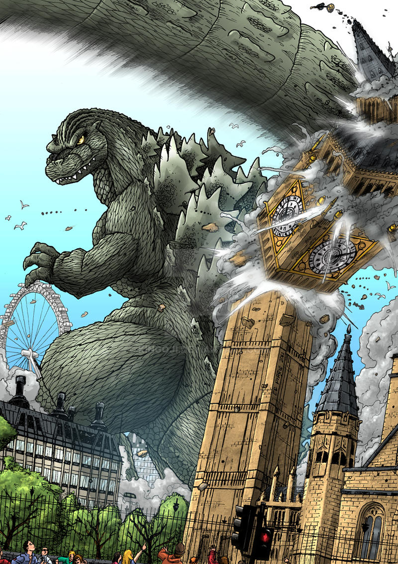 Big Ben Boom - Godzilla by Kingoji