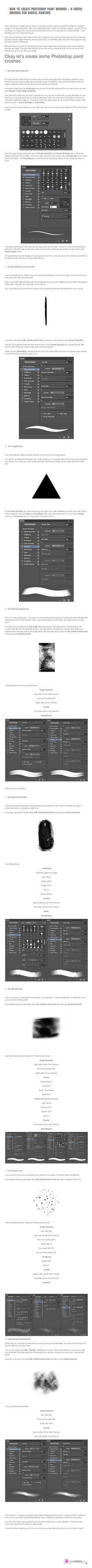 How to Create Photoshop Paint Brushes by pixelstains