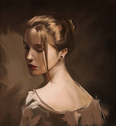brush test portrait by pixelstains