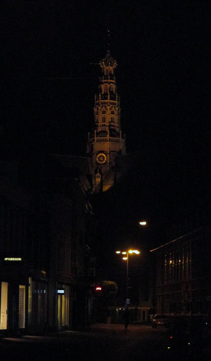 bavo church by night by marob0501