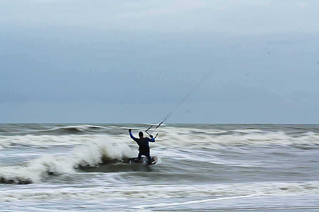 kite surfing by marob0501