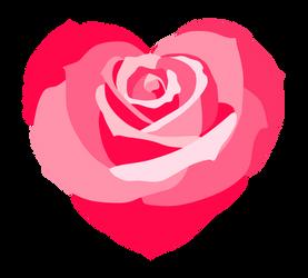 Heart rose clip art