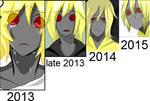 Hoodie : over the year progress