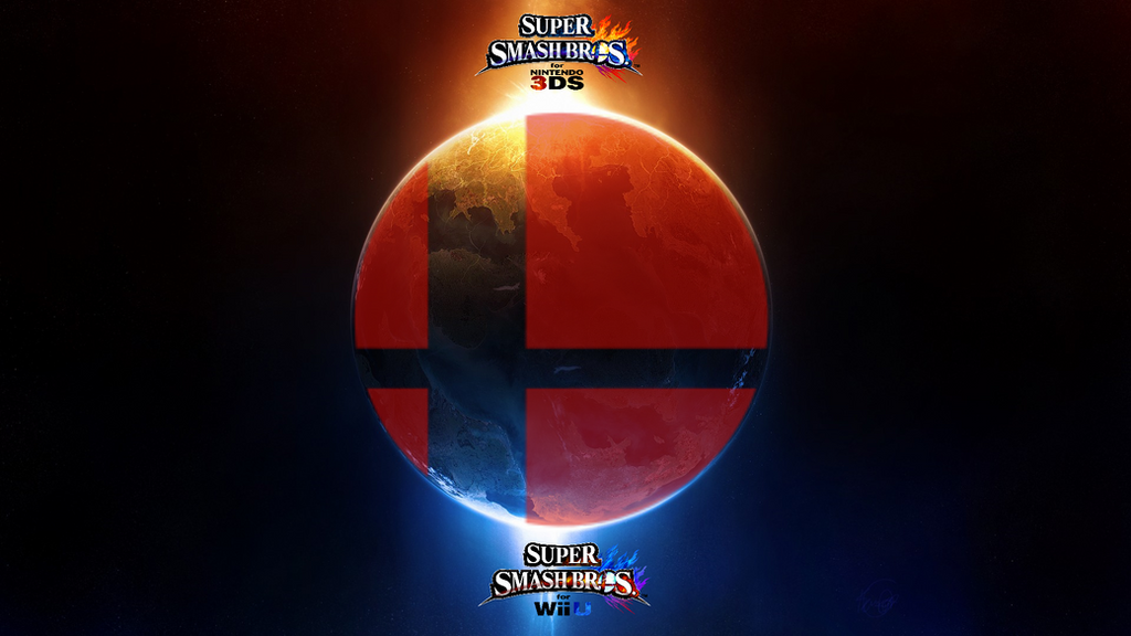 Super Smash Bros Wii U 3DS Logo Wallpaper 8 By TheWolfBunny