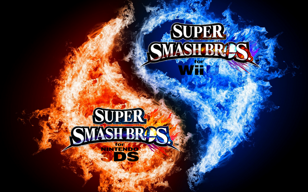 Super Smash Bros Wii U 3DS Logo Wallpaper 13 By TheWolfBunny