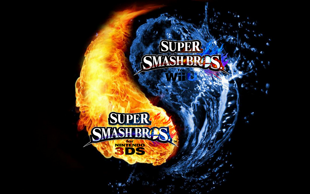 Super Smash Bros Wii U 3DS Logo Wallpaper 18 By TheWolfBunny