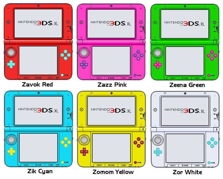 Nintendo 3ds Xl Colors : Nintendo ds xl deadly six editions by thewolfbunny on