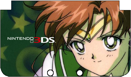 Nintendo 3DS XL Sailor Jupiter Faceplate by TheWolfBunny